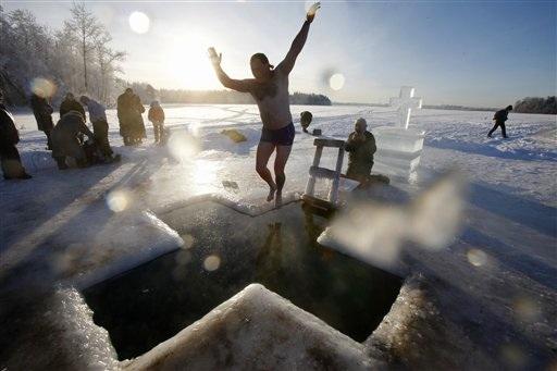 APTOPIX Russia Chilly_Chav